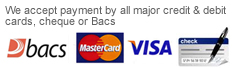 Accept Credit and Debit Cards, Bacs and Cheque